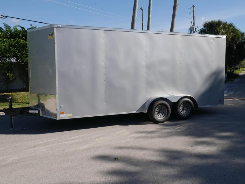 *E15B* 7x18 Enclosed Cargo Trailer Box Trailers|105234| 7 x 18 | EV7-18T3-R