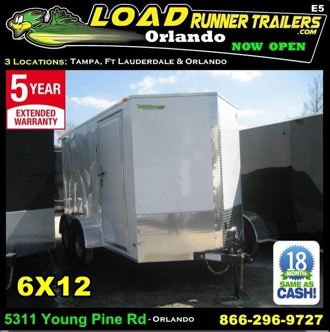 *E5* 6x12 Enclosed Trailer Cargo Tandem Axle Box 6 x 12 | EV6-12T3-R in Ashburn, VA