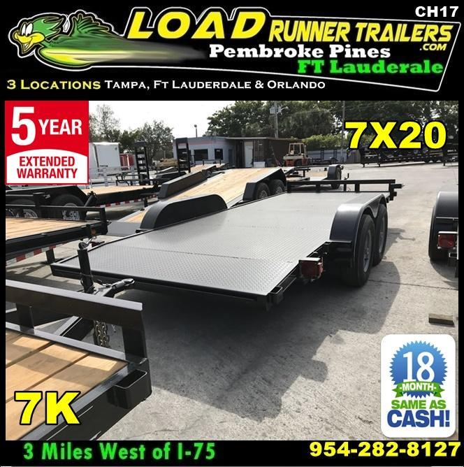 *CH17* 7x20 7K Steel Deck Car Hauler Trailer LR Haulers & Trailers 7 x 20 | CH82-20T3-1B-SD in Ashburn, VA