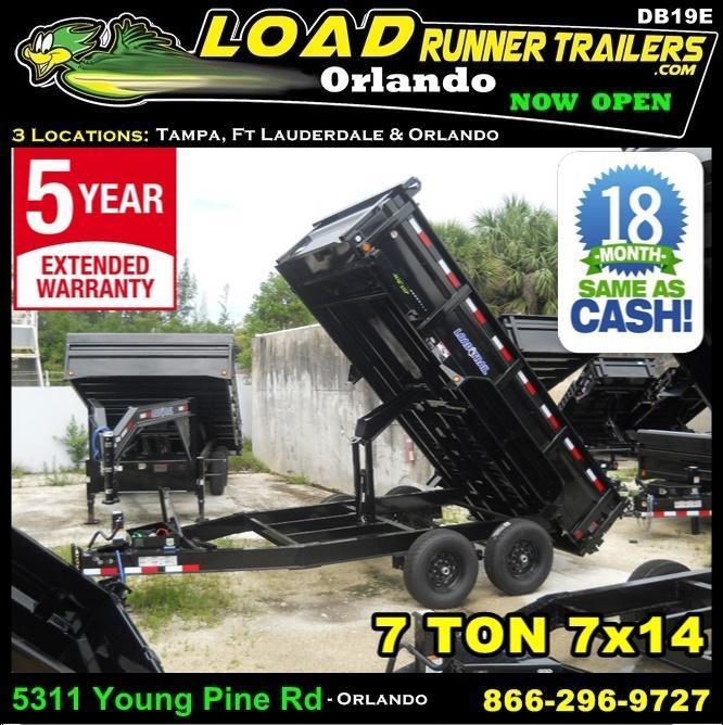*DB19E*  Load Trail 7 TON Dump Trailer Trailers & Dumps  | D83-14T7-24S