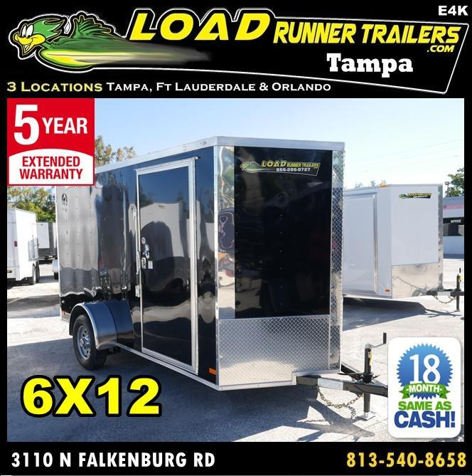 *E4K* 6X12  Enclosed Cargo Trailer |105145| Best Camping Trailers 6 x 12 | EV6-12S3-R