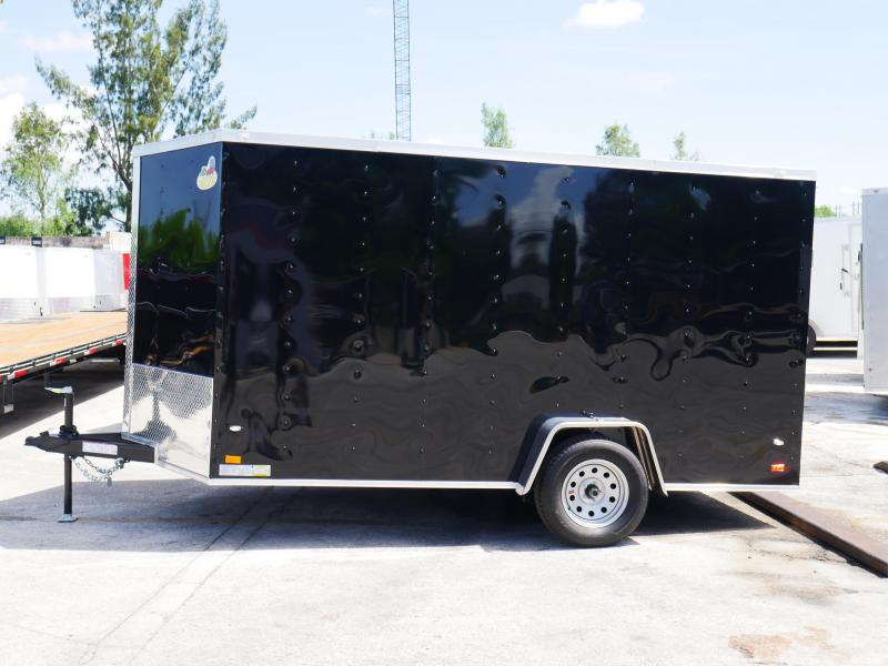 *E6* 7x12 Single Axle Enclosed Cargo Trailer 7 x 12 | EV-7-12S3-R