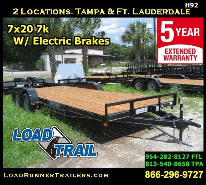 *H92* 7x20 Car Hauler Trailer | Brakes +7K Load Trail 7 x 20 | CH83-20T3-2B