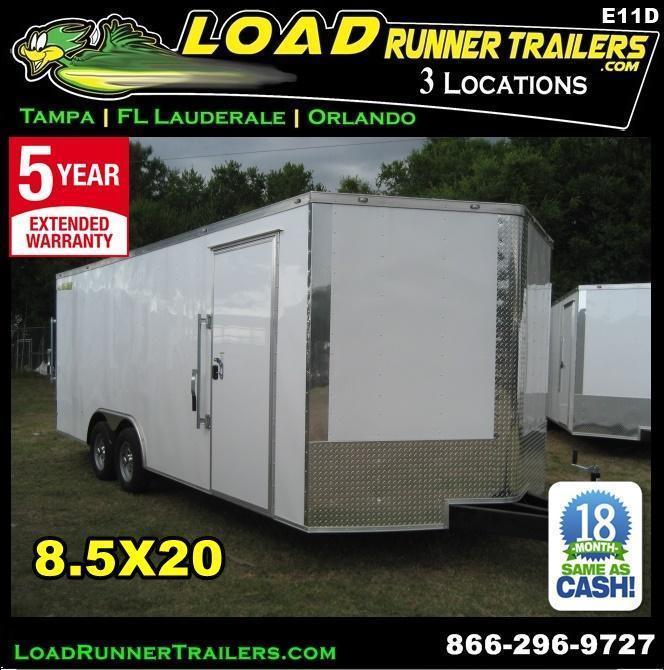 *E11D* 8.5x20 Enclosed Car Trailer Cargo Hauler 8.5 x 20   EV8.5-20T3-R