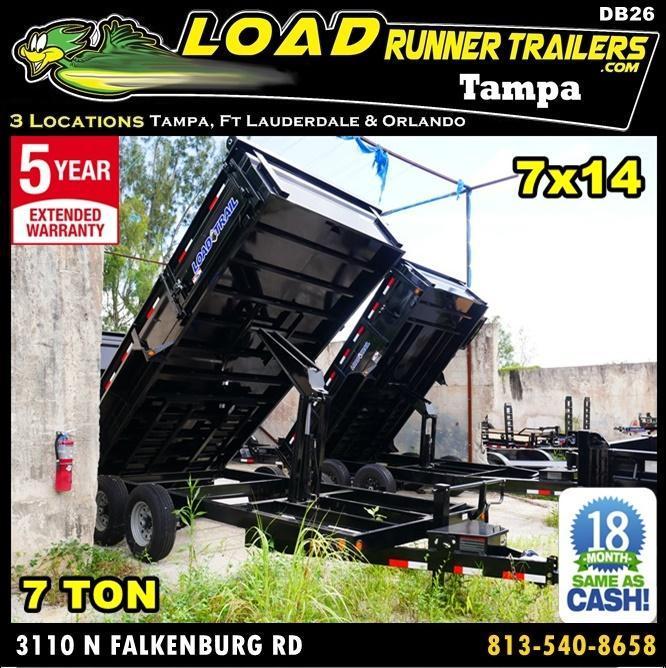 *DB26* 7x16 7 Ton Tandem Dump Trailer Load Trail Trailers 7 x 16   D83-16T7-24S