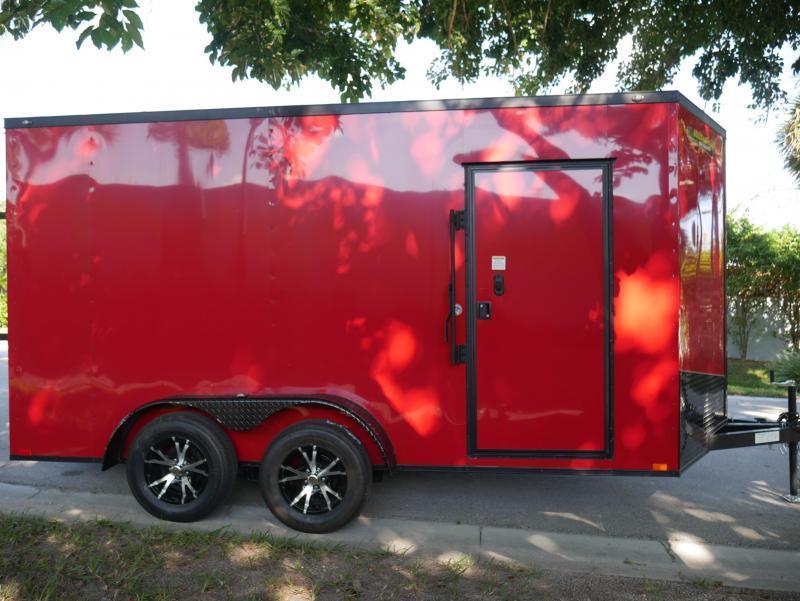 *E8G* 7x14 Enclosed Trailer Cargo Blackout Trailers |104752| 7 x 14 | EV7-14T3-R