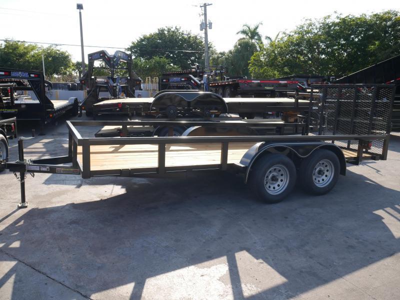 *U14B* 6.5x16 Utility Lawn Trailer 7K w/Dove 6.5 x 16 | U76-16T3-0B-TR