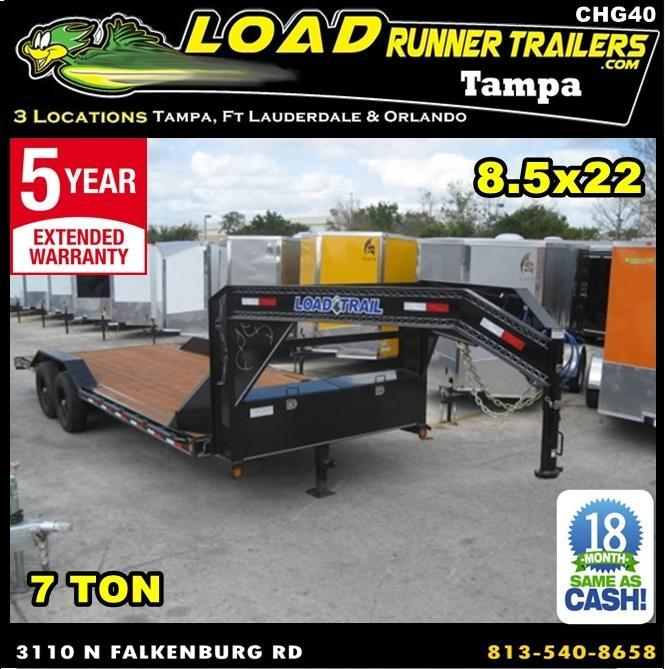 *CHG40* 8.5x22 7 TON Gooseneck Car Hauler Trailer |LR Trailers 8.5 x 22 | CHG102-22T7-DOF