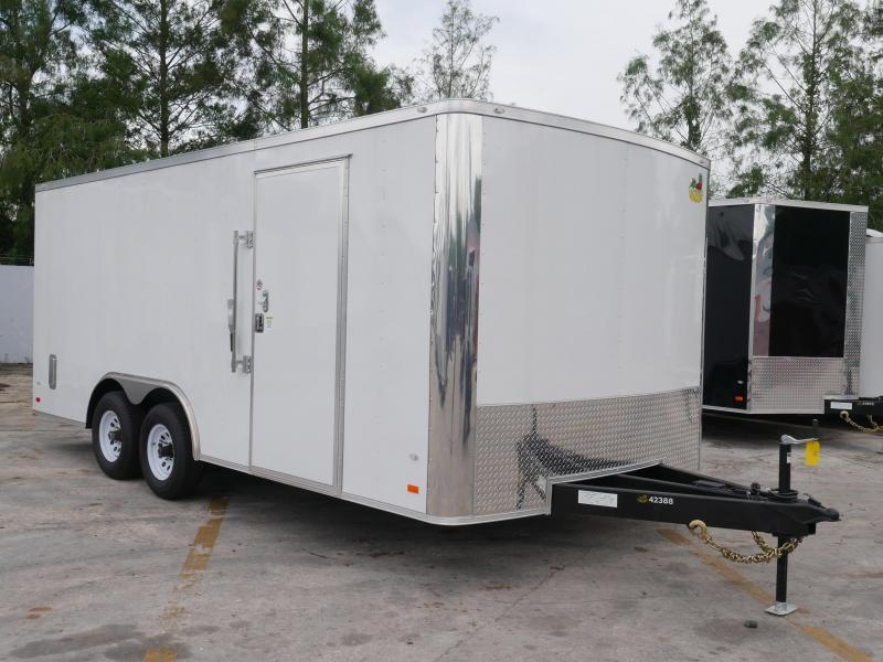 *E16* 8.5x18 Enclosed Car Hauler LR Trailers Cargo Trailer 8.5 x 18 | EV8.5-18T3-R