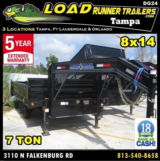 *DG24* 8x16 7 TON Dump Trailer Fold Down Sides Trailers 8 x 16 | DG96-16T7-18S