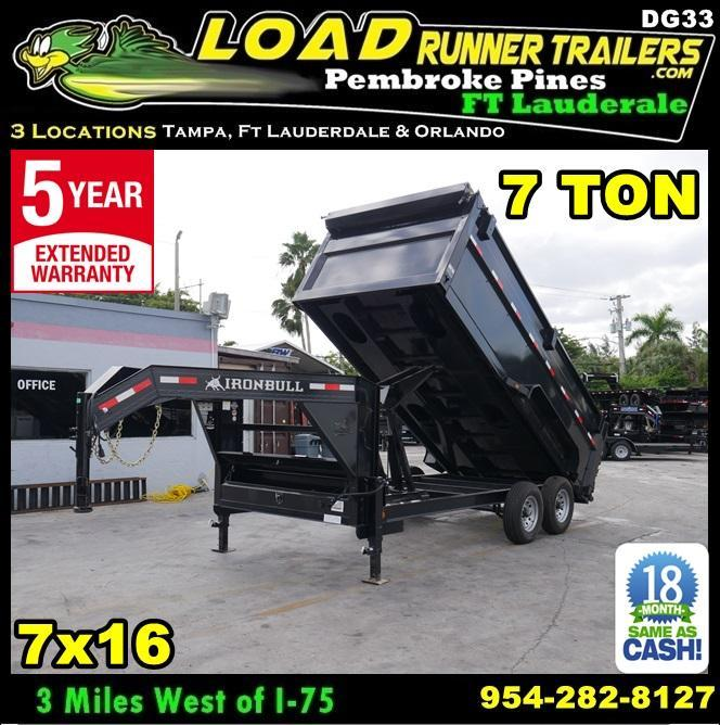 *DG33* 7x16 Gooseneck Dump Trailer |7 TON Dumps & Trailers 7 x 16 | DG83-16T7-48S in Ashburn, VA