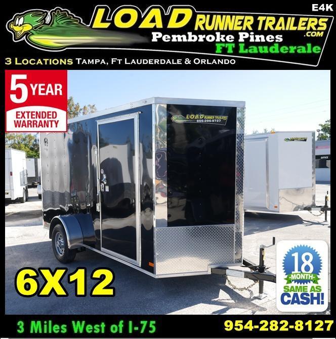 *E4K* 6X12  Enclosed Cargo Trailer |105145| Best Camping Trailers 6 x 12 | EV6-12S3-R in Ashburn, VA