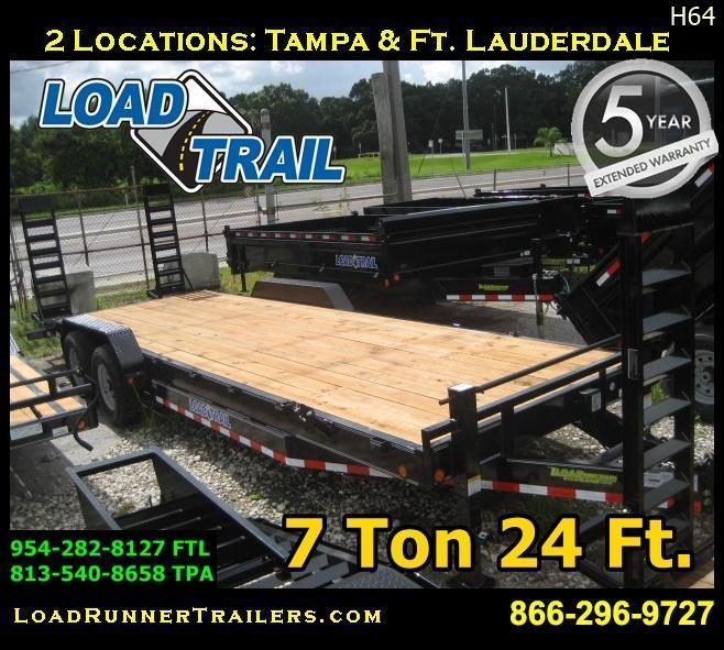*H64* 7x24 Equipment Hauler Trailer 7 TON Load Trail 7 x 24 | EQ83-24T7-KR
