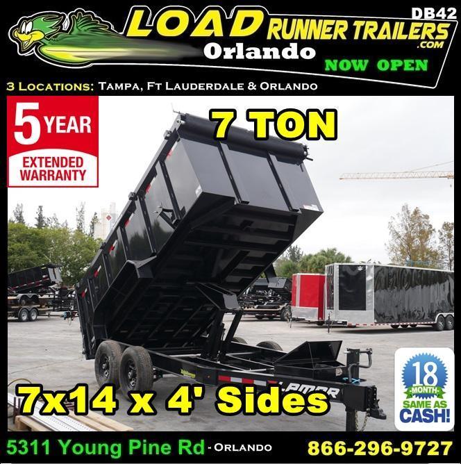 *DB42* 7x14 7 TON Low Profile Dump Trailer |Dumps & Trailers 7 x 14 | D83-14T7-LP/48S in Ashburn, VA