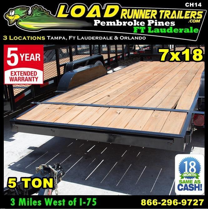 *CH14* 7x18 Car Haulers & Trailers Hauler & Trailer w/Brakes 7 x 18 | CH82-18T5-1B