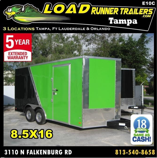*E10C* 8.5x16 Enclosed*Trailer*Cargo Car Hauler 8.5 x 16 | EV8.5-16T3-R