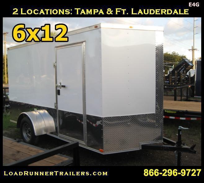 *E4G* 6x12  Enclosed Cargo Trailer LR Car Wash Trailers 6 x 12 | EV6-12S-R