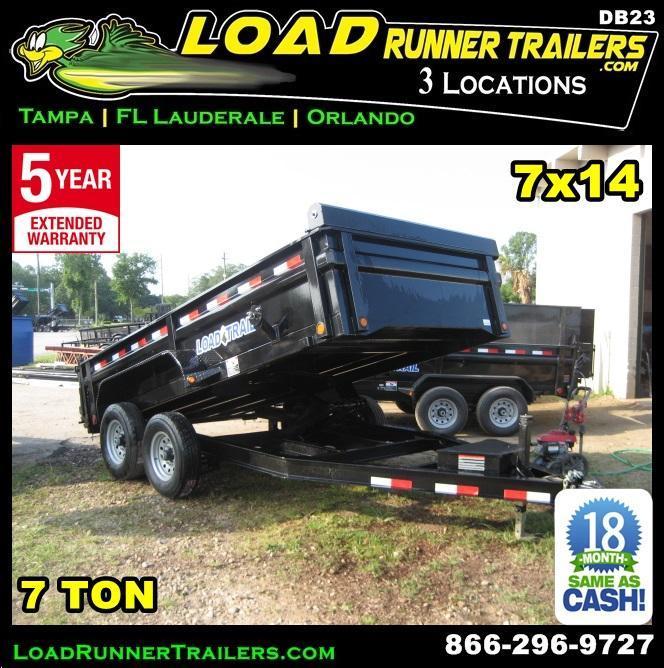 *DB23* 7x14 Dump Trailer   Trailers 7k Low Profile Load Trail 7 x 14   D83-14T7-LP/24S