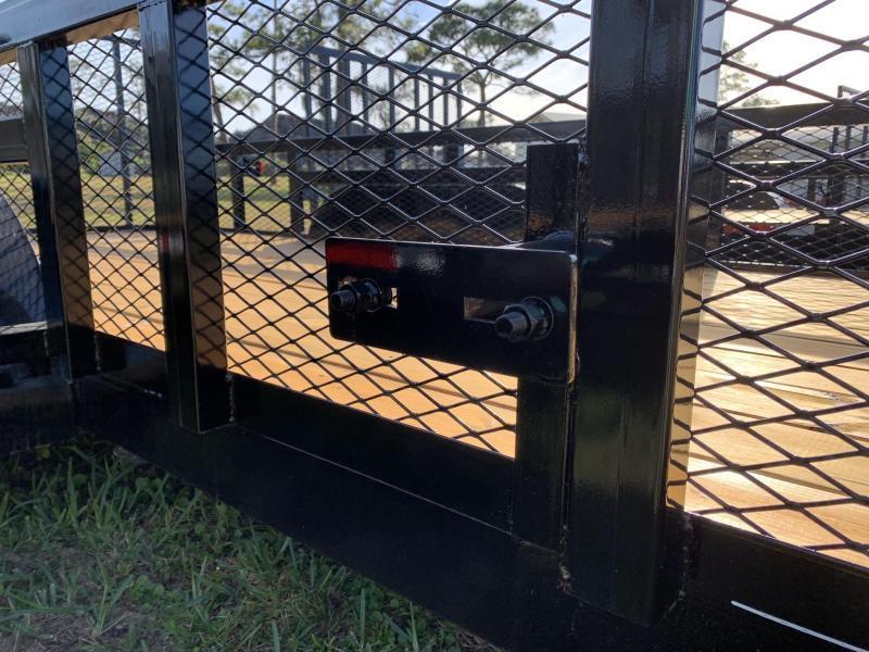 *U28* 7x18 Utility Trailer w/Tandem 3500#  Axles Electric Brakes & 2' Mesh 7 x 18 | U82-18T3-1B-TR/2M