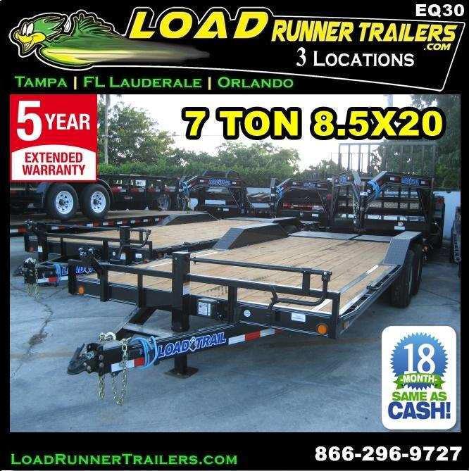 *EQ30* 8.5x20 7 TON Equipment & Car Hauler Trailer |LR Trailers 8.5 x 20 | EQ102-20T7-DOF/KR