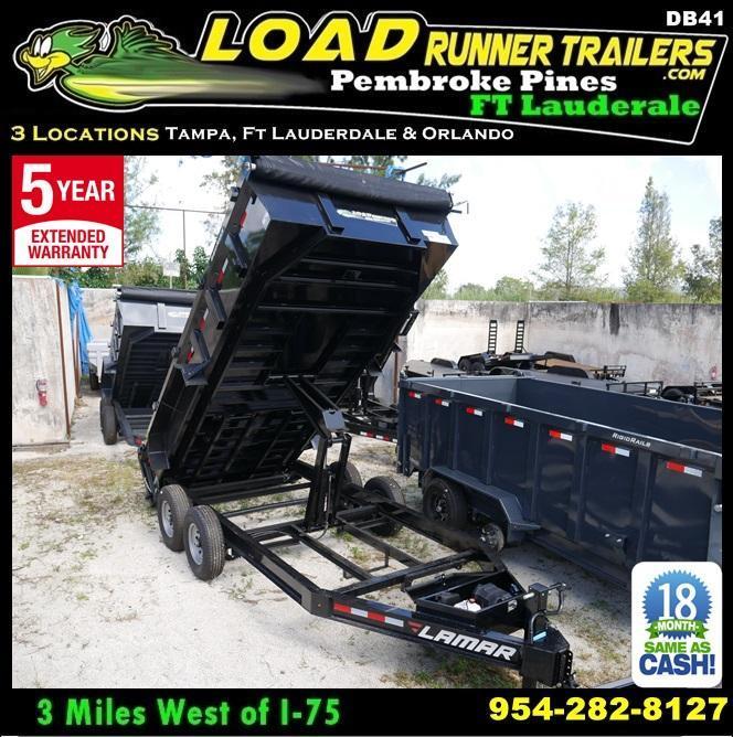 *DB41* 7x16 7 TON Dump Trailer |LAMAR Dumps & Trailers 7 x 16 | D83-16T7-LP/24S