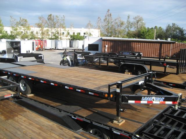 *F39* 8.5x24 7 TON Flatbed Deck Over Trailer with Multipurpose Dove 8.5 x 24 | FC102-24T7-MPD