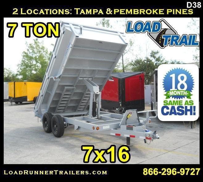 *D38* 7x14 King Dump Trailer 7 TON Load Trail Trailers 7 x 14 | DK83-14T7-24S