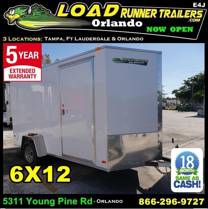 *E4J* 6x12 Enclosed Trailer Cargo | Blowout Trailers | 105332 6 x 12 | EV6-12S3-R