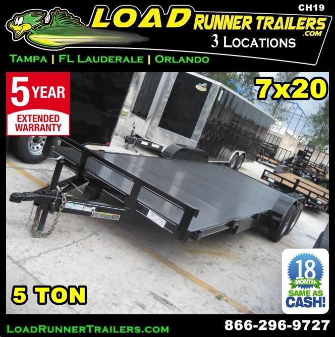 *CH19* 7x20 5TON Steel Car Hauler/Trailer Trailers Haulers w/brake 7 x 20 | CH82-20T5-1B-SD