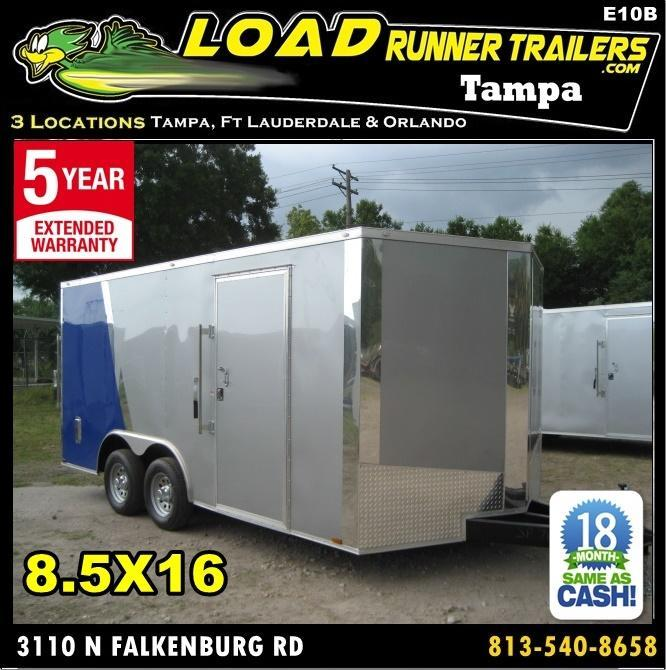 *E10B* 8.5x16 Enclosed Trailer Cargo Car Hauler 8.5 x 16 | EV8.5-16T5-R in Ashburn, VA