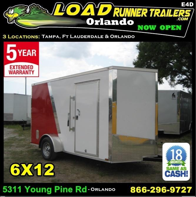 *E4D* 6x12 Enclosed Cargo Trailer LR Carpenter Trailers 6 x 12 | EV6-12S3-R in Ashburn, VA
