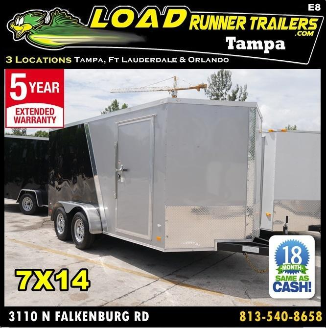 *E8* 7x14 Enclosed Trailer Cargo Tandem Axle Big Band 7 x 14 | EV7-14T3-R in Ashburn, VA