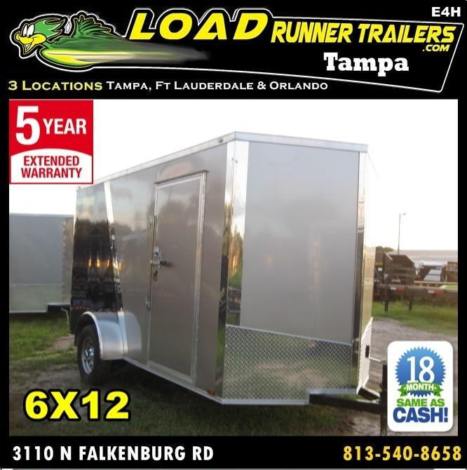 *E4H* 6X12  Enclosed Cargo Trailer LR Camping Trailers 6 x 12 | EV6-12S3-R in Ashburn, VA