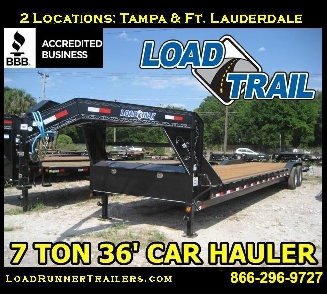 *H47* 8.5x36 Gooseneck Hauler Trailers Car Trailer 8.5 x 36 | CHG102-36T7-DOF