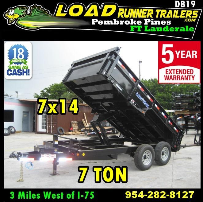 *DB19* 7x14 14K Load Trail Dump Trailer Tandem Axle Trailers 7 x 14 | D83-14T7-24S in Ashburn, VA