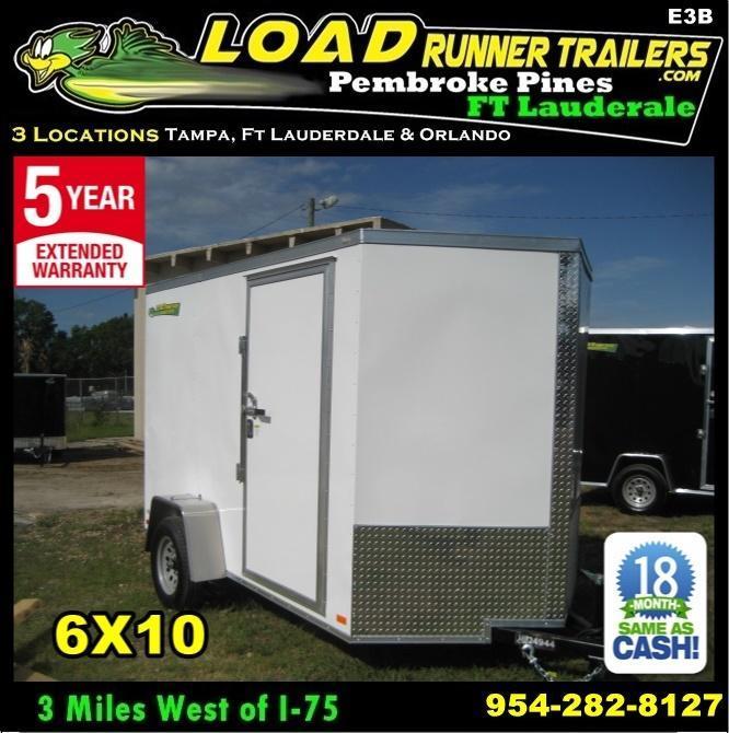 *E3B* 6x10 Enclosed Trailer Cargo L R  Lawn Trailers 6 x 10   EV6-10S3-DD in Ashburn, VA