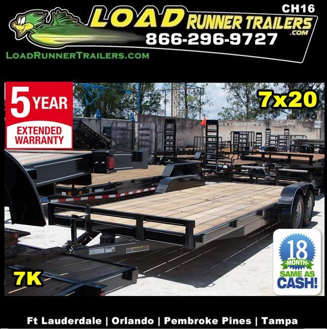 *CH16* 7x20 7K Car Haulers & Trailers LR Trailer & Hauler w/brakes 7 x 20 | CH82-20T3-1B in Ashburn, VA