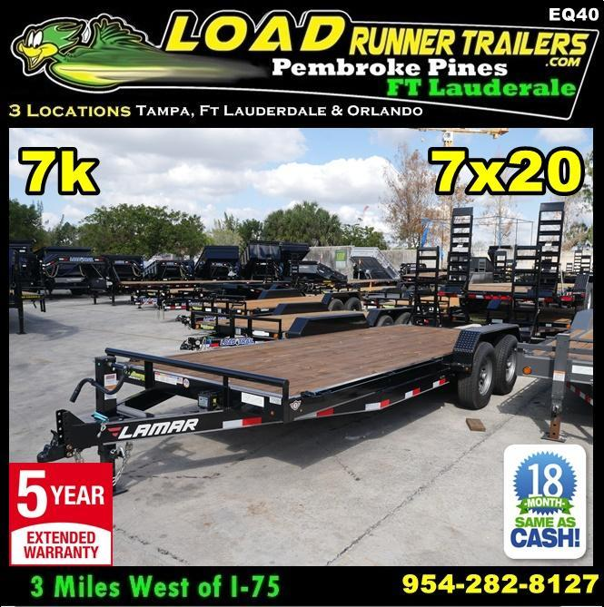 *EQ40* 7x20 7 TON Equipment & Car Hauler Trailer |LR Trailers 7 x 20 | EQ83-20T7-KR in Ashburn, VA