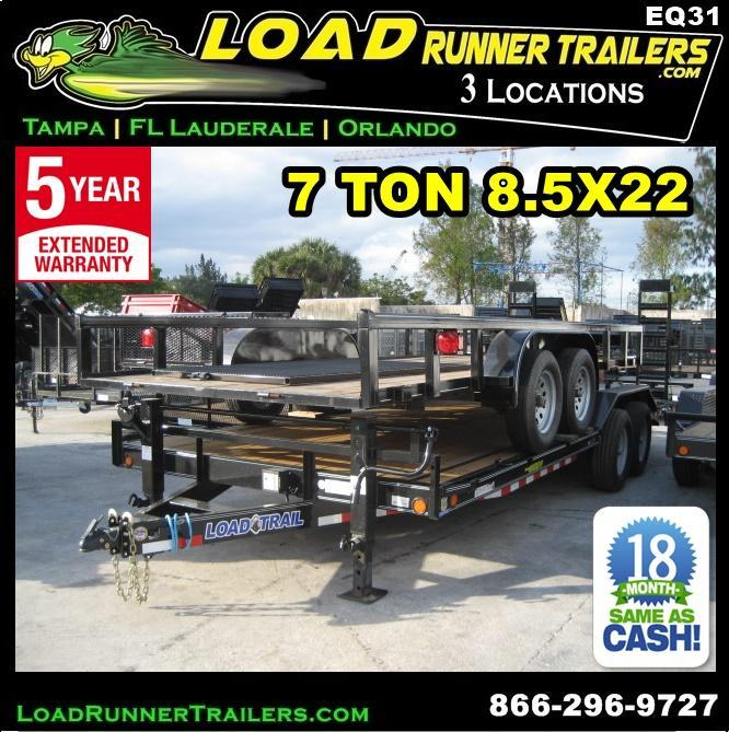 *EQ31* 8.5x22 7 TON Equipment & Car Hauler Trailer |LR Trailers 8.5 x 22 | EQ102-22T7-DOF/KR in Ashburn, VA