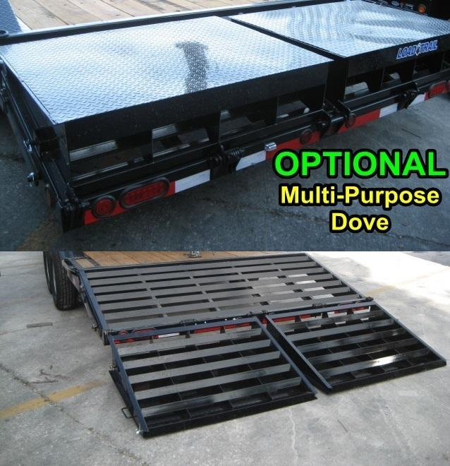 *BC1* 7x14 Bobcat Equipment Hauler Trailer with Kicker Ramps 7 x 14 | BC80-14T7-SD/KR