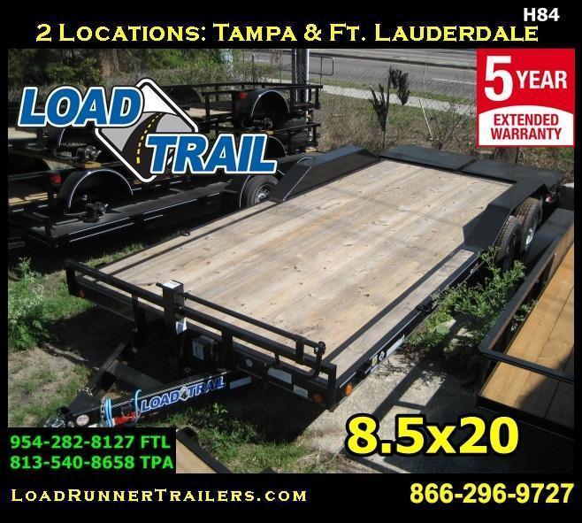 *H84* 8.5x20 Equipment Hauler Trailer Car Trailers 8.5 x 20   EQ102-20T7-DOF