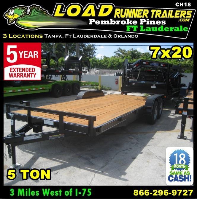 *CH18* 7x20 5 TON Haulers & Trailers Car Hauler & LR Trailer 7 x 20 | CH82-20T5-1B