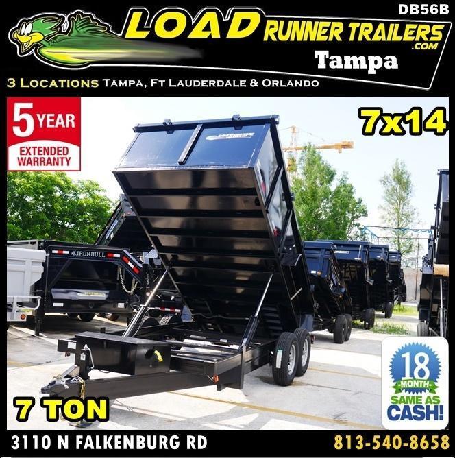 *DB56B* 7x14 14K Dump Trailer W/3' Sides Taylor Trailers 7 x 14 | D82-14T7-36S in Ashburn, VA
