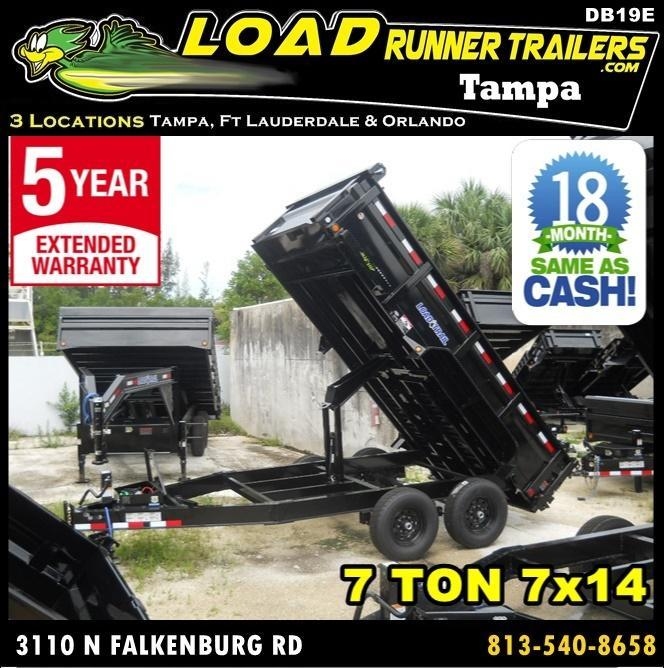 *DB19E* 7x14 Load Trail 7 TON Dump Trailer |Trailers & Dumps 7 x 14 | D83-14T7-24S in Ashburn, VA