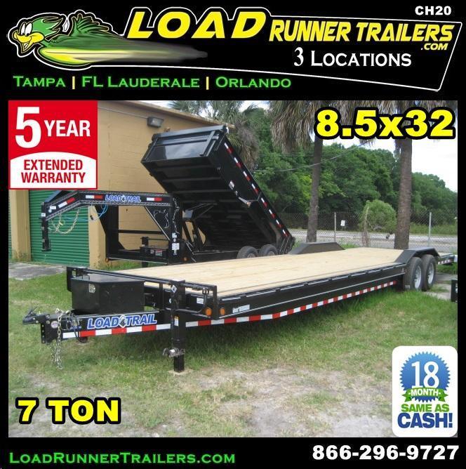*CH20* 8.5x32 7TON Car Hauler Trailer Trailers & Haulers w/brakes 8.5 x 32 | CH102-32T7-DOF