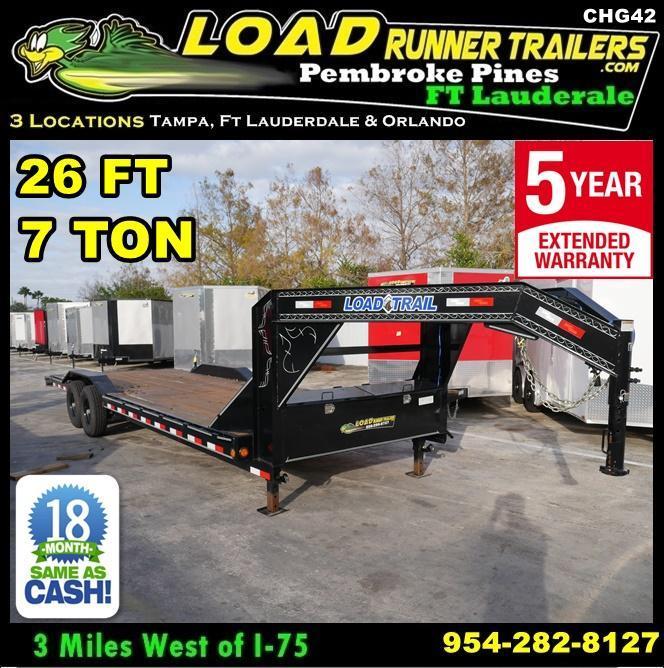 *CH42* 8.5x22 Car Hauler Trailer 7 TON Trailers 8.5 x 22 | CH102-22T7-DOF
