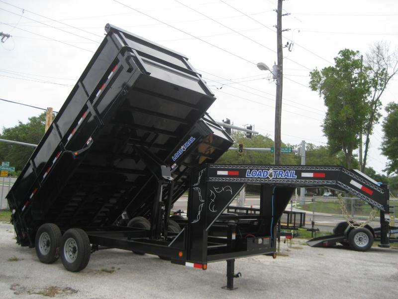 *D32* 7x16 Dump Trailer 4 Foot Sides 7 TON Gooseneck 7 x 16 | DG83-16T7-48S