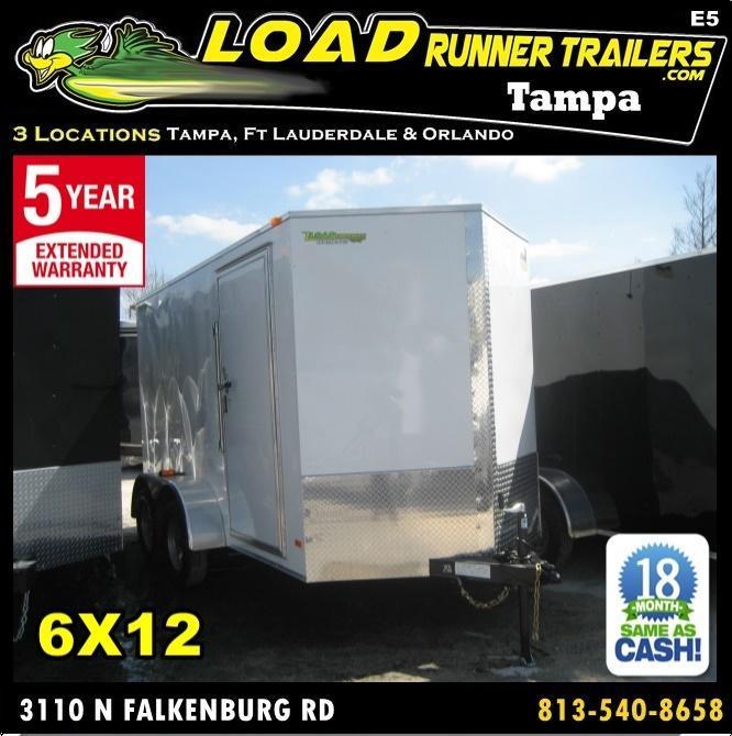 *E5* 6x12 Enclosed Trailer Cargo Tandem Axle Box 6 x 12 | EV6-12T3-R in FL