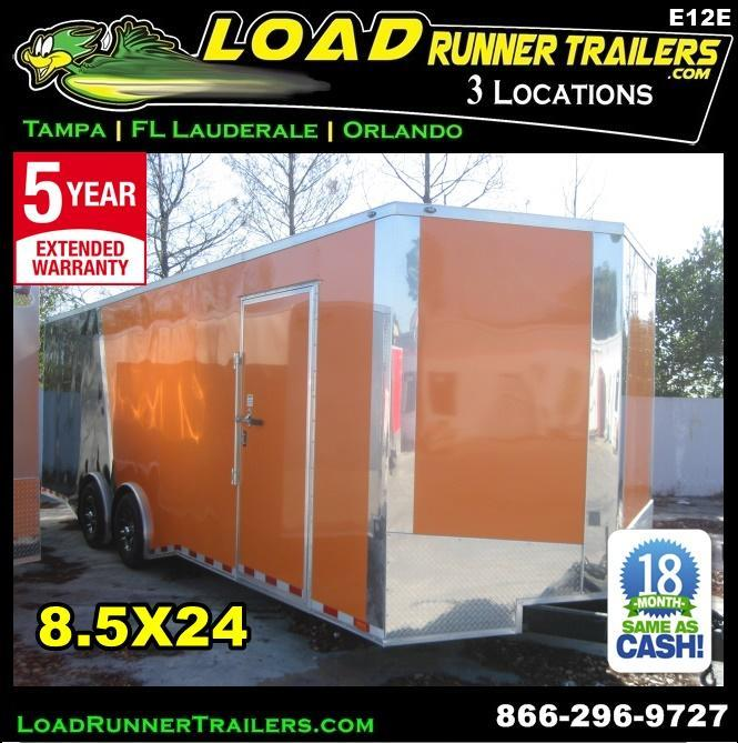*E12E* 8.5x24 Enclosed Trailer HAULERS Cargo Car Hauler 8.5 x 24 | EV8.5-24T3-R in Ashburn, VA