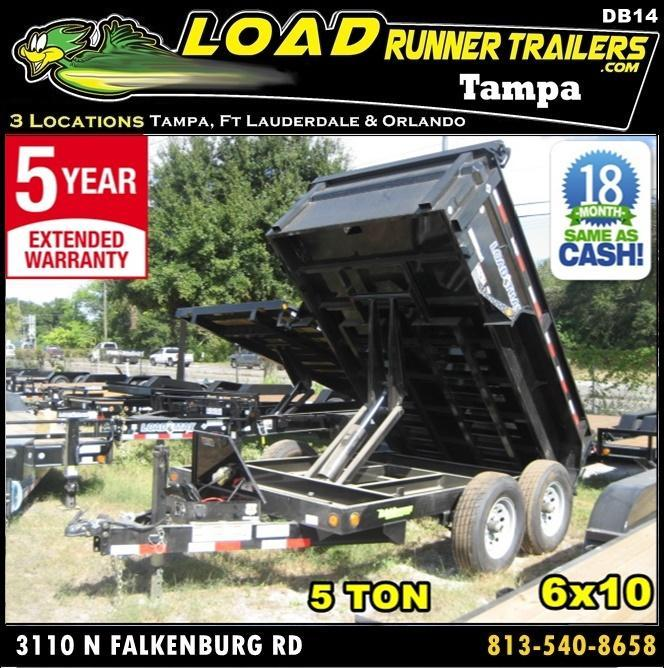 *DB14* 6x10 5k Load Trail Dump Trailer Tandem Axle Trailers 6 x 10 | D72-10T5-24S in Ashburn, VA